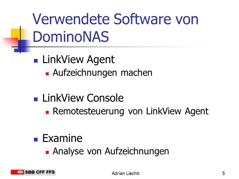 Verwendete Software von DominoNAS