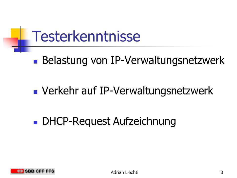 Testerkenntnisse Belastung von IP-Verwaltungsnetzwerk