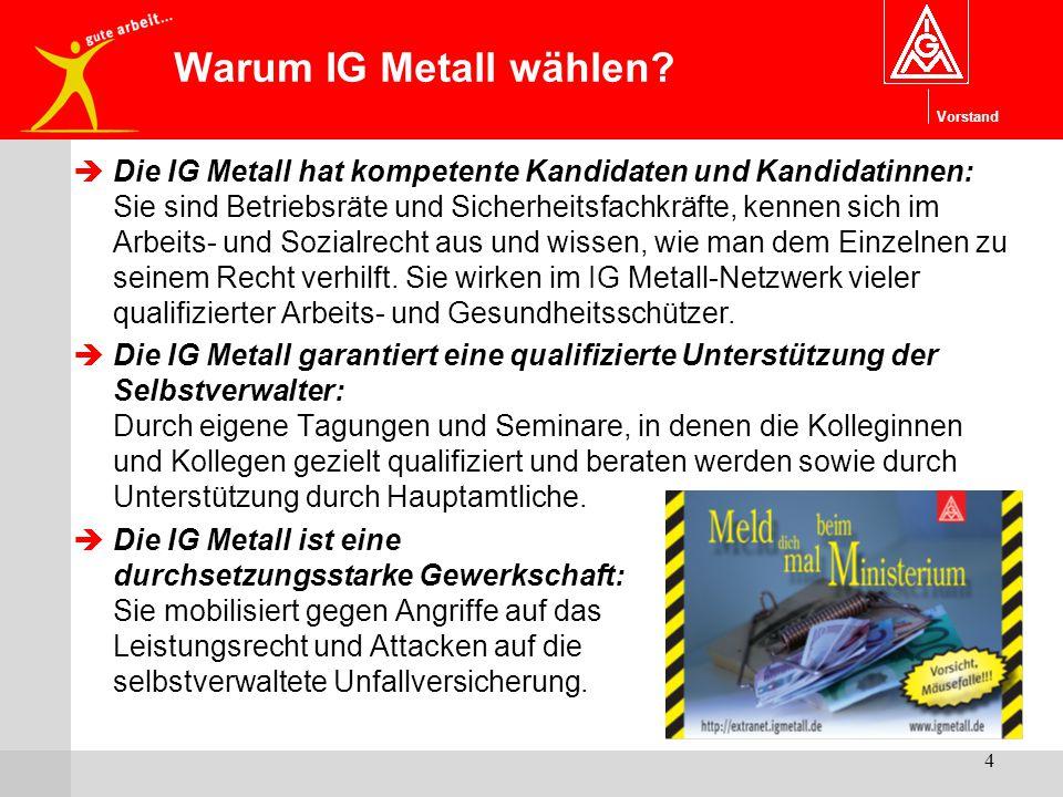 Warum IG Metall wählen