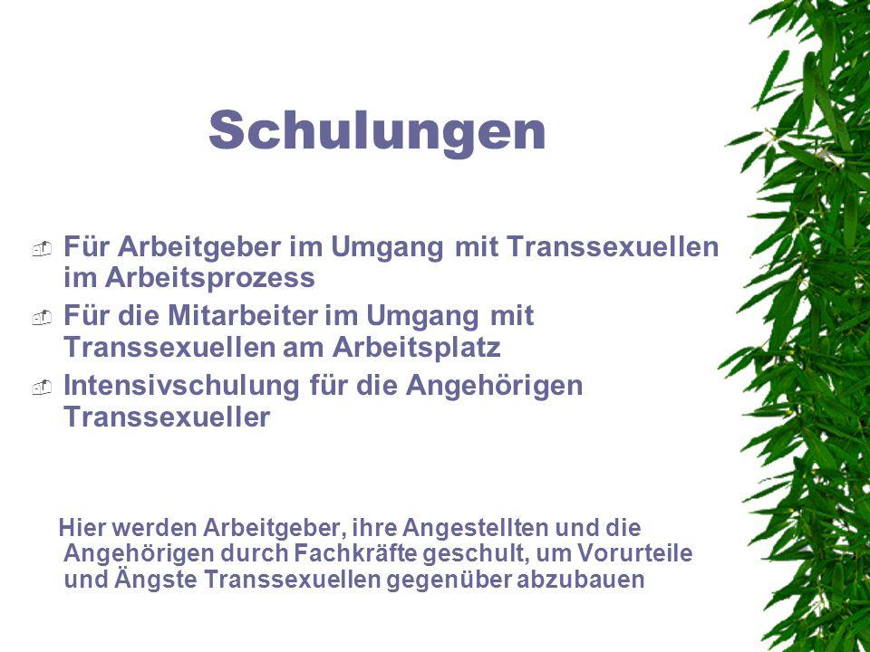 Schulungen Für Arbeitgeber im Umgang mit Transsexuellen im Arbeitsprozess. Für die Mitarbeiter im Umgang mit Transsexuellen am Arbeitsplatz.