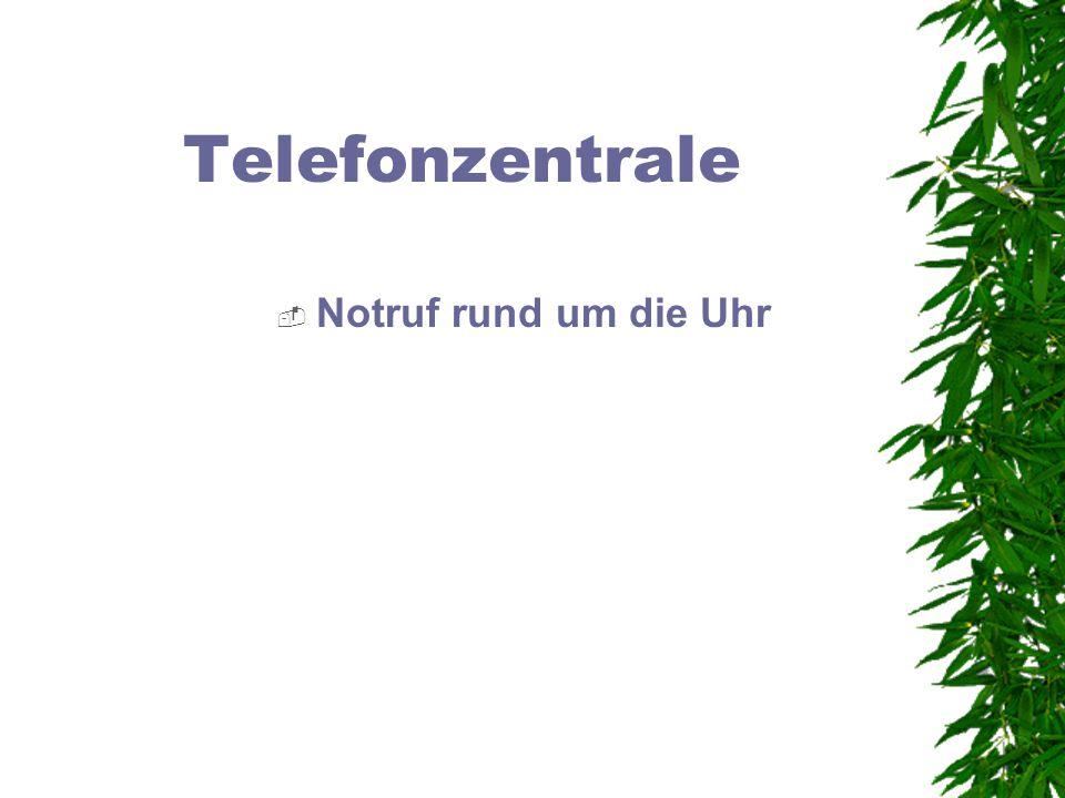 Telefonzentrale Notruf rund um die Uhr