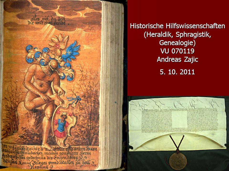 Historische Hilfswissenschaften (Heraldik, Sphragistik, Genealogie)