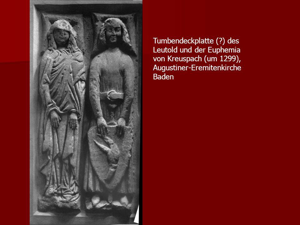 Tumbendeckplatte ( ) des Leutold und der Euphemia von Kreuspach (um 1299), Augustiner-Eremitenkirche Baden