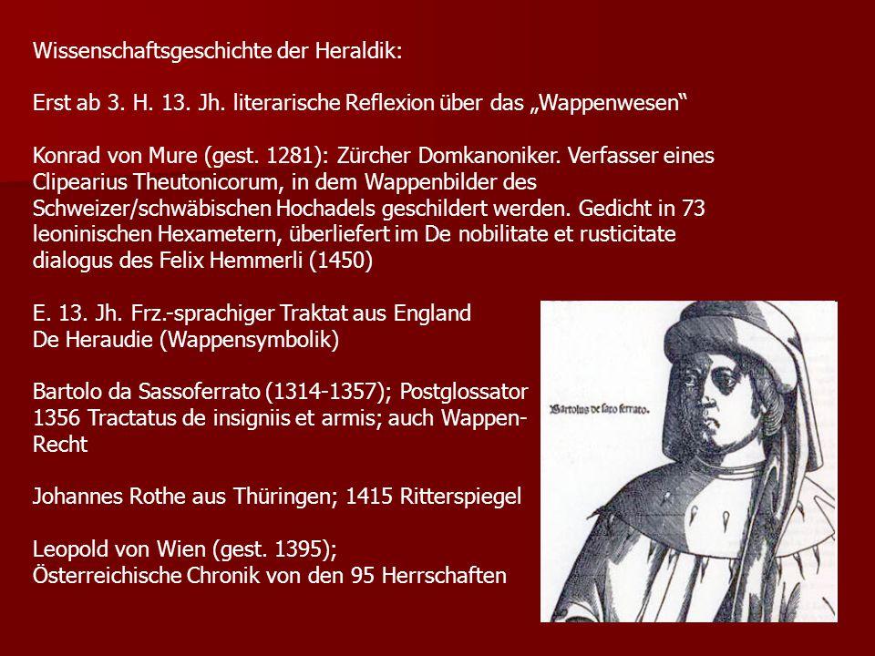 Wissenschaftsgeschichte der Heraldik: