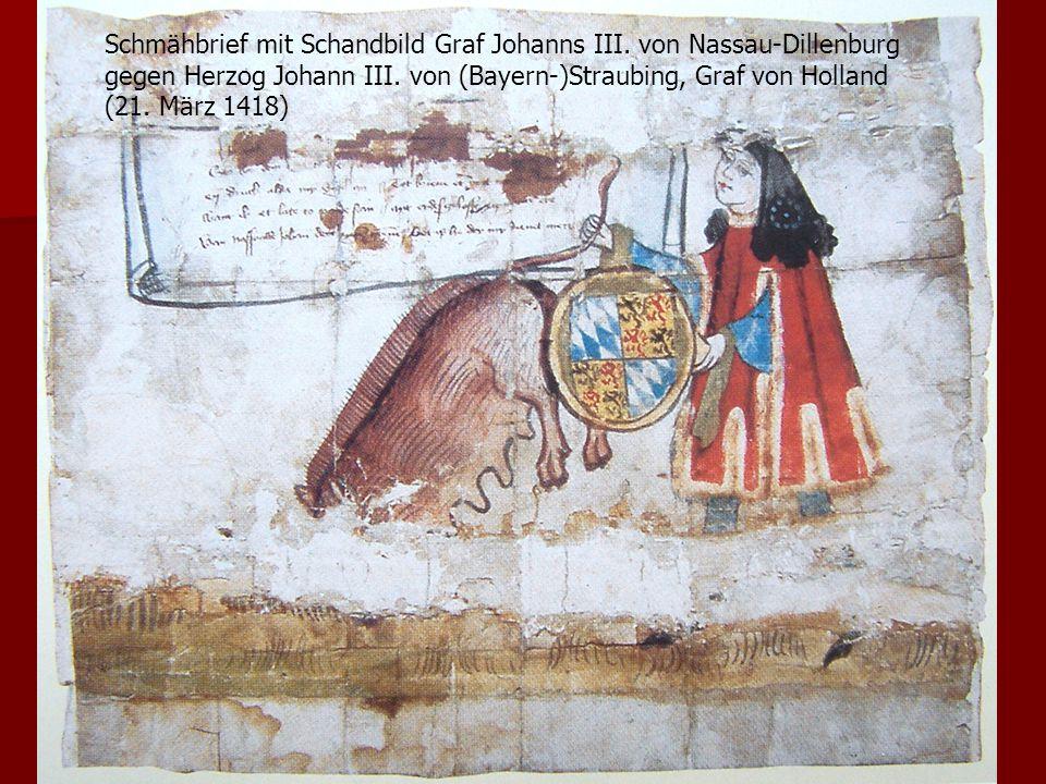 Schmähbrief mit Schandbild Graf Johanns III