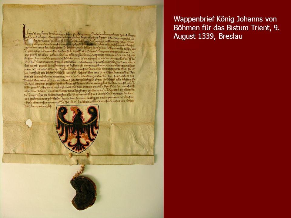 Wappenbrief König Johanns von Böhmen für das Bistum Trient, 9
