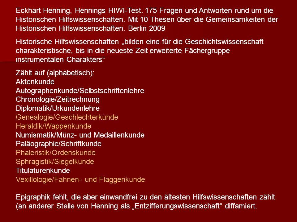 Eckhart Henning, Hennings HIWI-Test