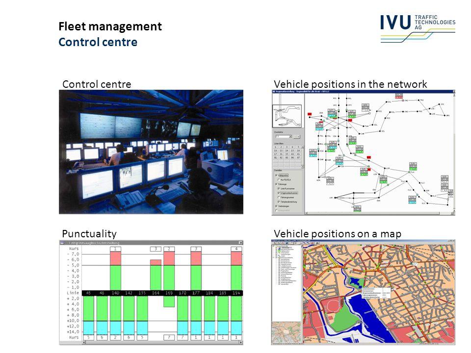 Fleet management Control centre