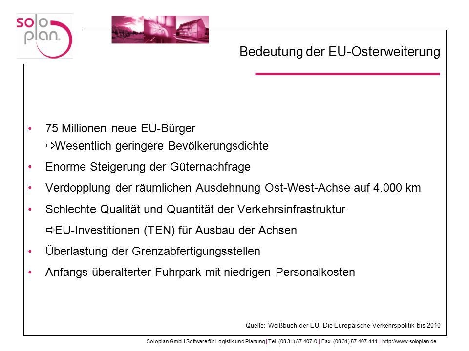 Bedeutung der EU-Osterweiterung