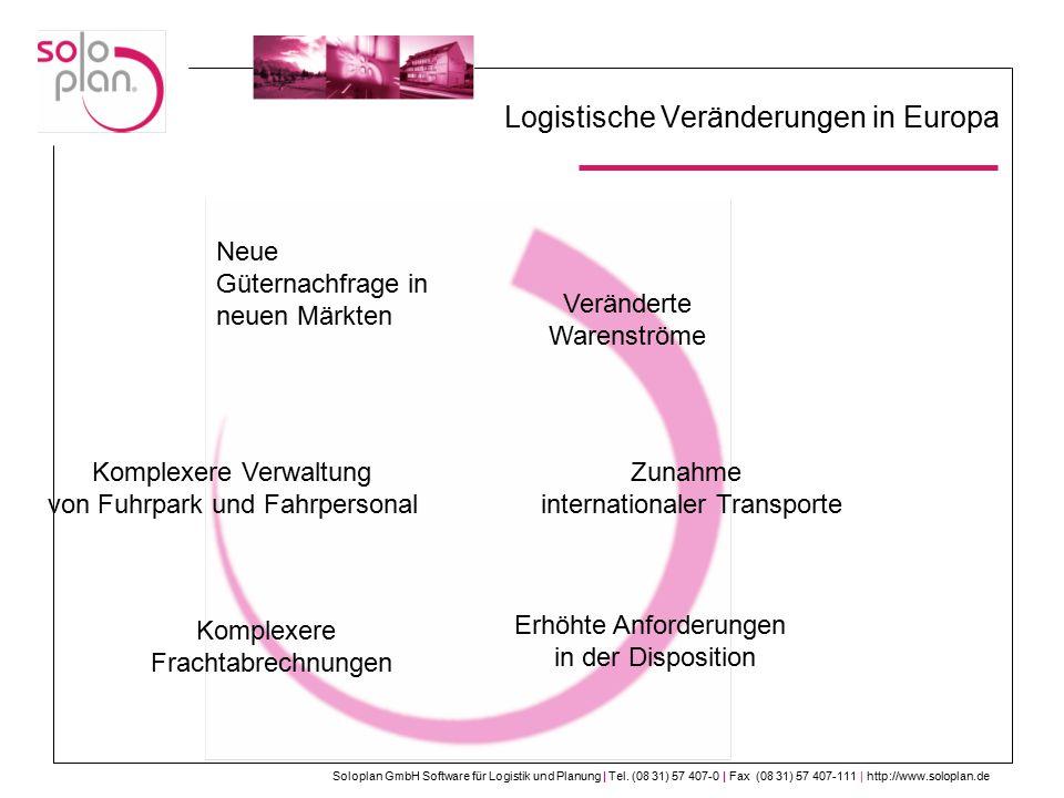 Logistische Veränderungen in Europa