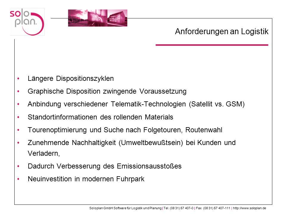 Anforderungen an Logistik