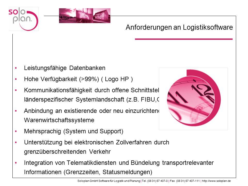 Anforderungen an Logistiksoftware