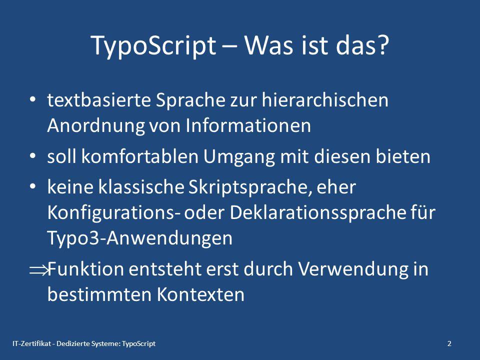 TypoScript – Was ist das