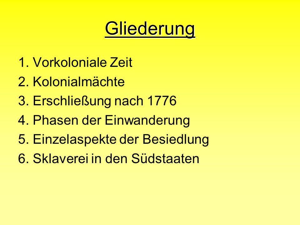 Gliederung 1. Vorkoloniale Zeit 2. Kolonialmächte