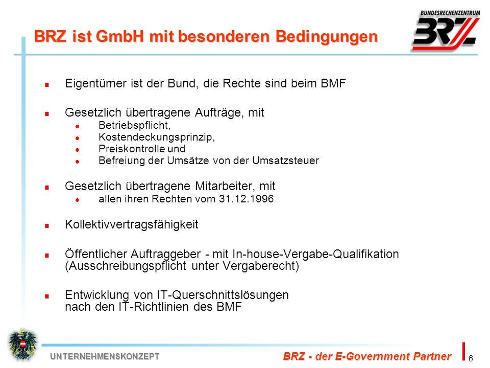 BRZ ist GmbH mit besonderen Bedingungen