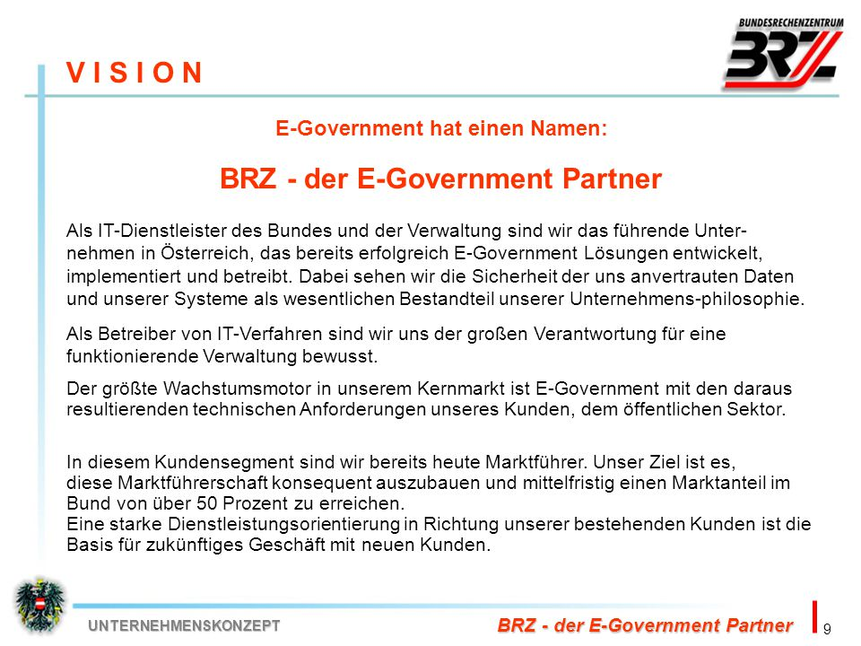 E-Government hat einen Namen: BRZ - der E-Government Partner