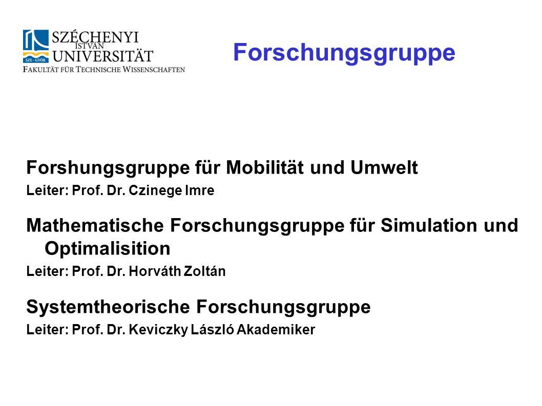 Forschungsgruppe Forshungsgruppe für Mobilität und Umwelt