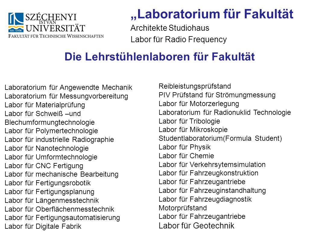 """""""Laboratorium für Fakultät"""