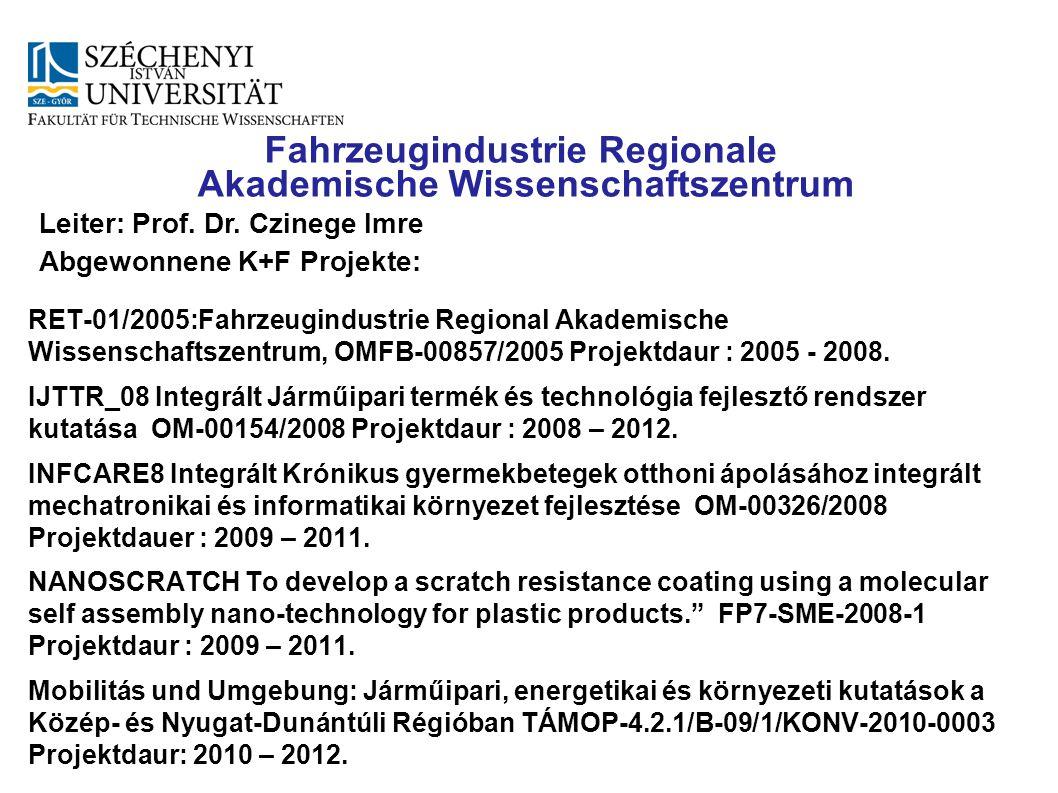 Fahrzeugindustrie Regionale Akademische Wissenschaftszentrum