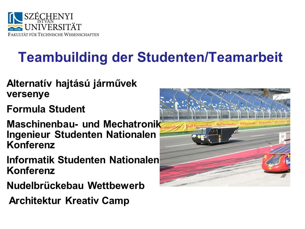 Teambuilding der Studenten/Teamarbeit