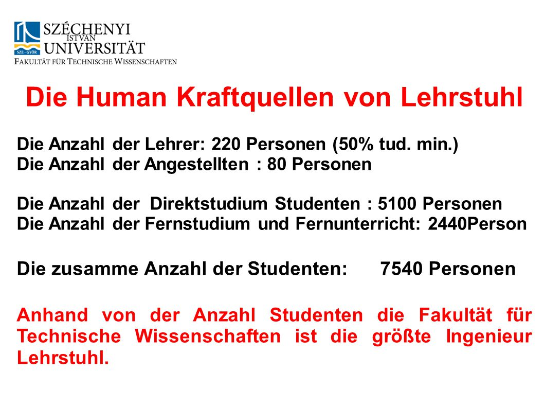 Die Human Kraftquellen von Lehrstuhl
