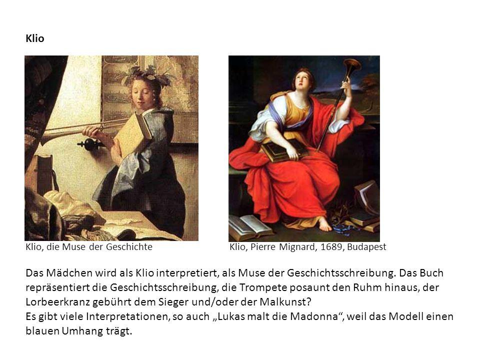 Klio Klio, die Muse der Geschichte. Klio, Pierre Mignard, 1689, Budapest.