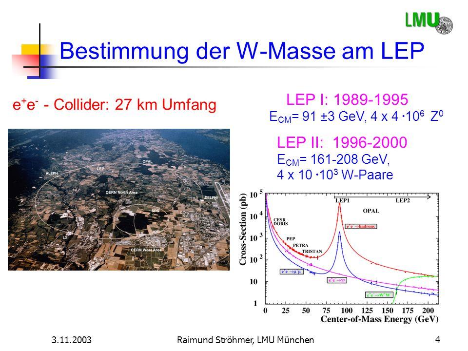 Bestimmung der W-Masse am LEP