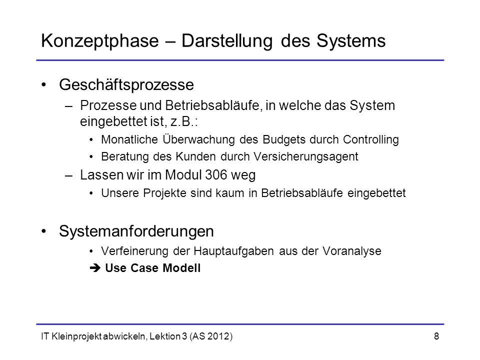 Konzeptphase – Darstellung des Systems