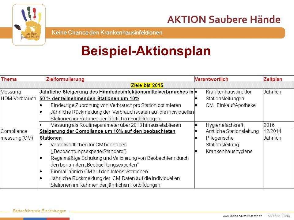 Beispiel-Aktionsplan