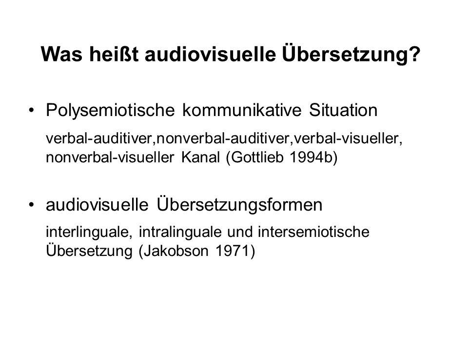 Was heißt audiovisuelle Übersetzung