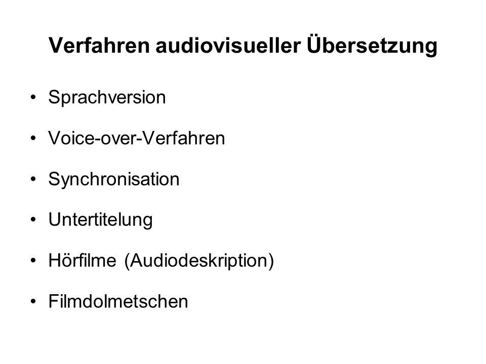 Verfahren audiovisueller Übersetzung