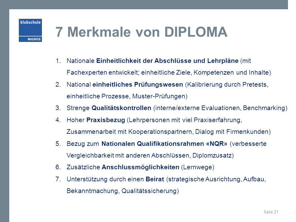 7 Merkmale von DIPLOMA