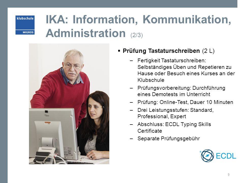 IKA: Information, Kommunikation, Administration (2/3)