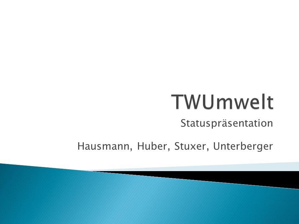 Statuspräsentation Hausmann, Huber, Stuxer, Unterberger