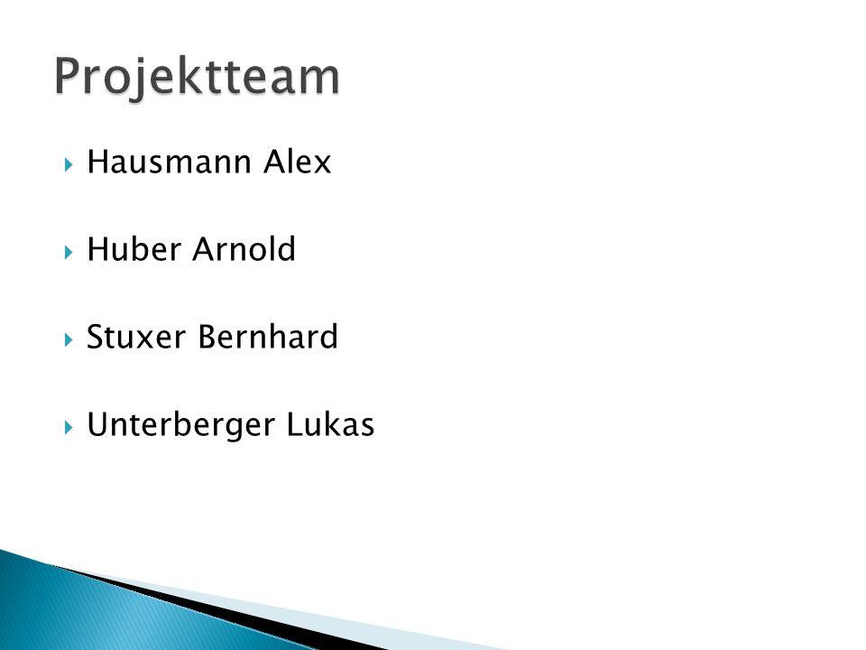 Projektteam Hausmann Alex Huber Arnold Stuxer Bernhard