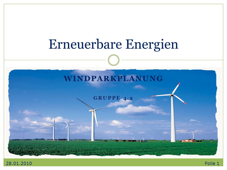 Windparkplanung Gruppe 4.2