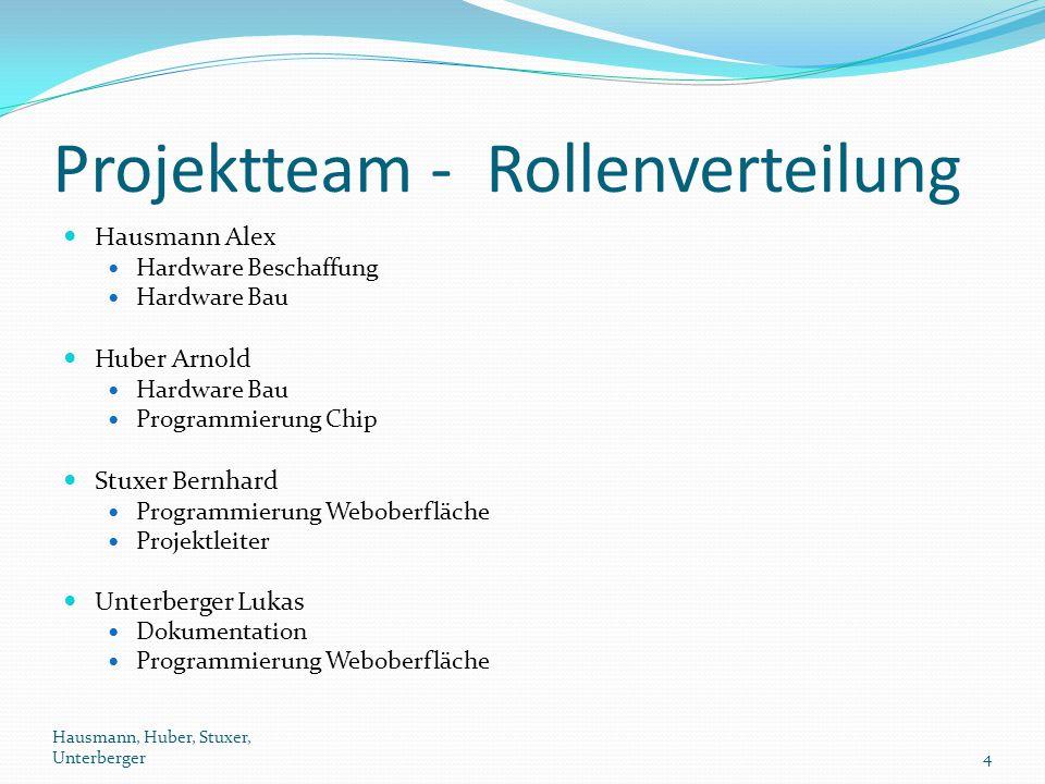 Projektteam - Rollenverteilung