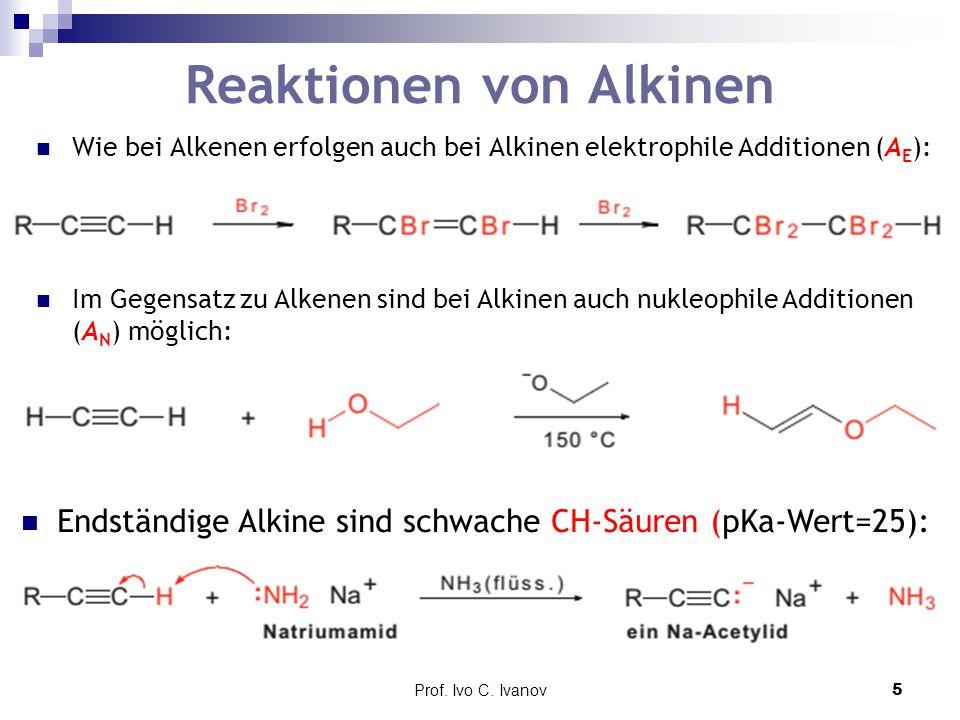 Reaktionen von Alkinen