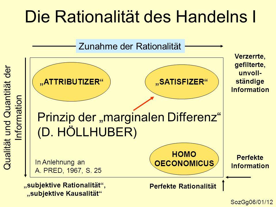 Die Rationalität des Handelns I