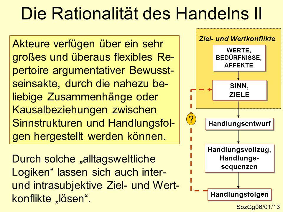 Die Rationalität des Handelns II