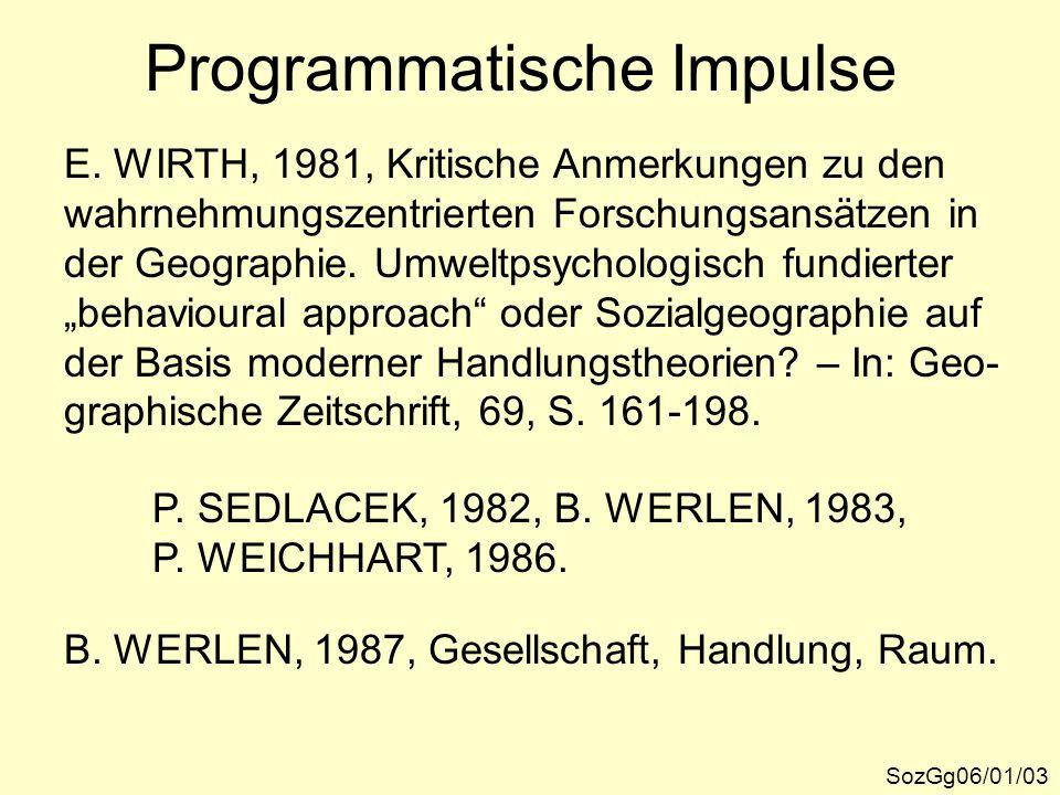 Programmatische Impulse