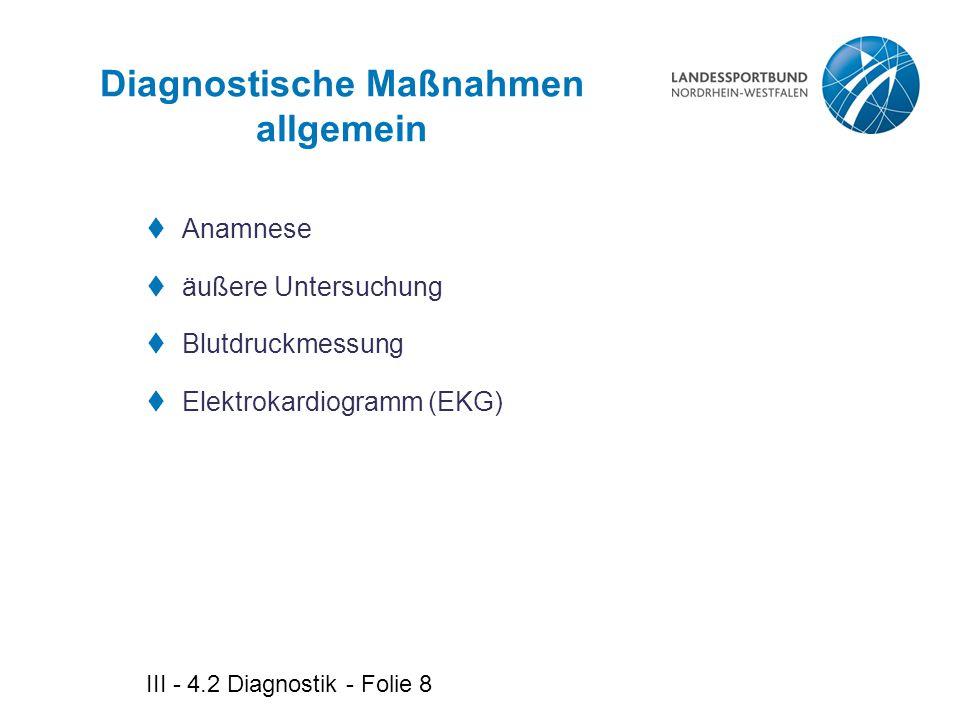 Diagnostische Maßnahmen allgemein