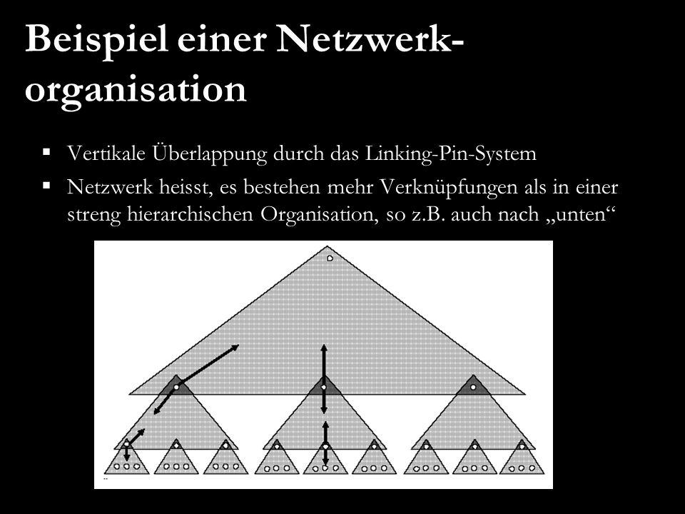Beispiel einer Netzwerk-organisation