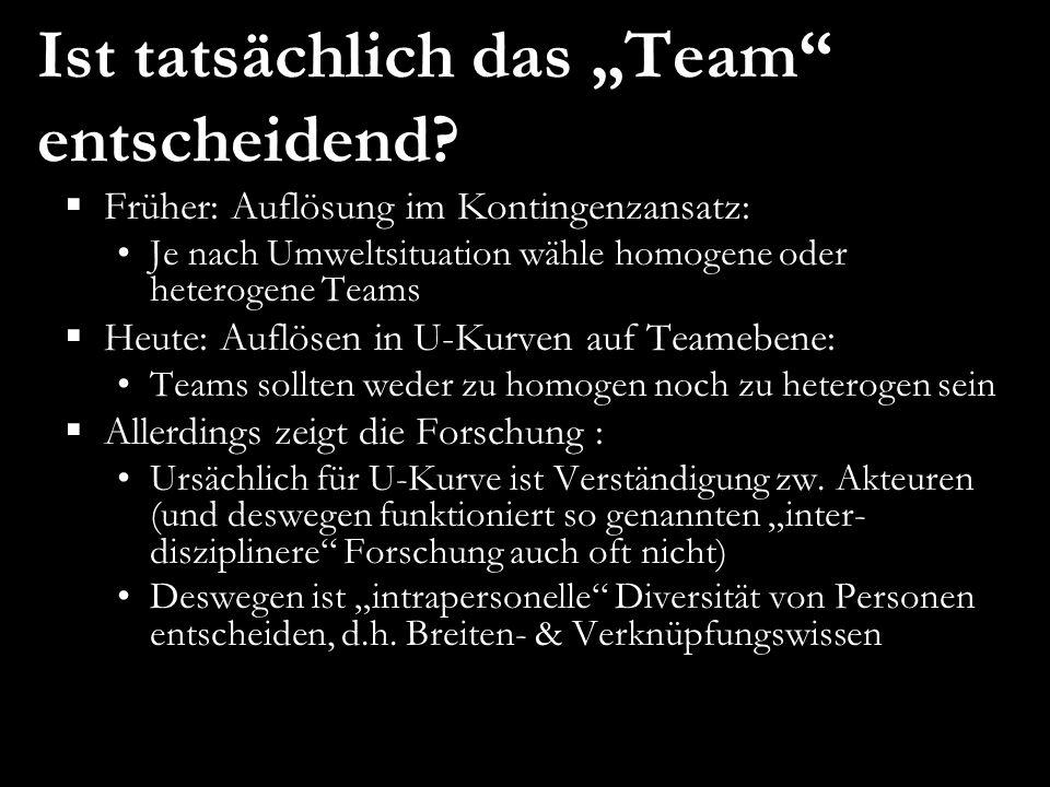 """Ist tatsächlich das """"Team entscheidend"""