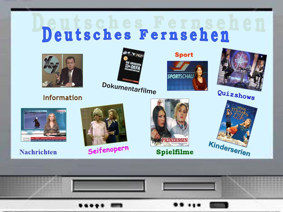 Deutsches Fernsehen Dokumentarfilme Quizshows Information Seifenopern