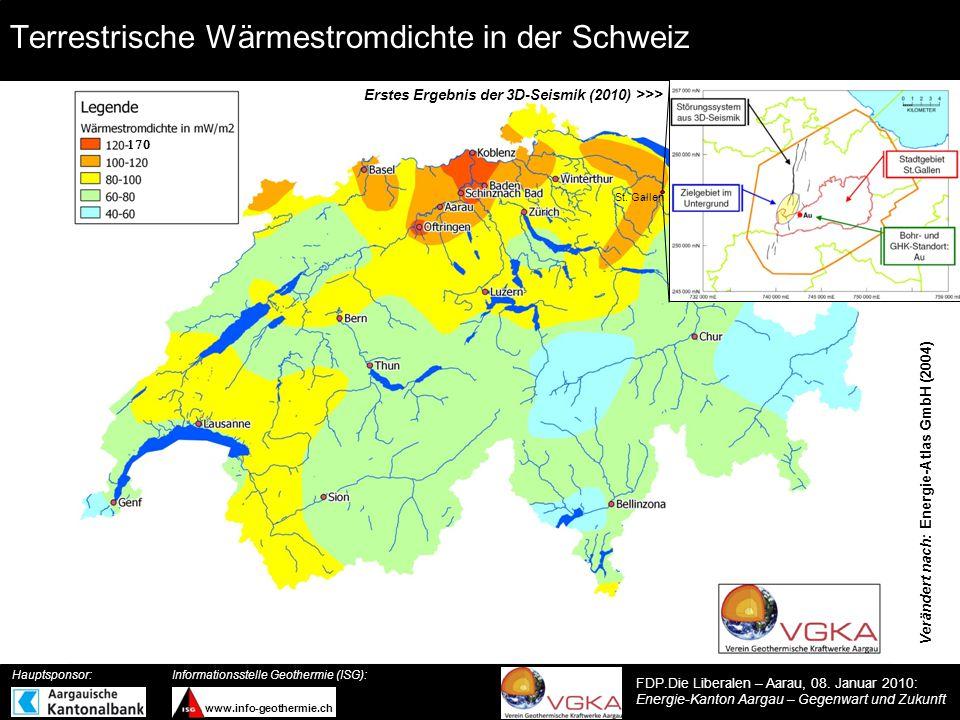 Terrestrische Wärmestromdichte in der Schweiz