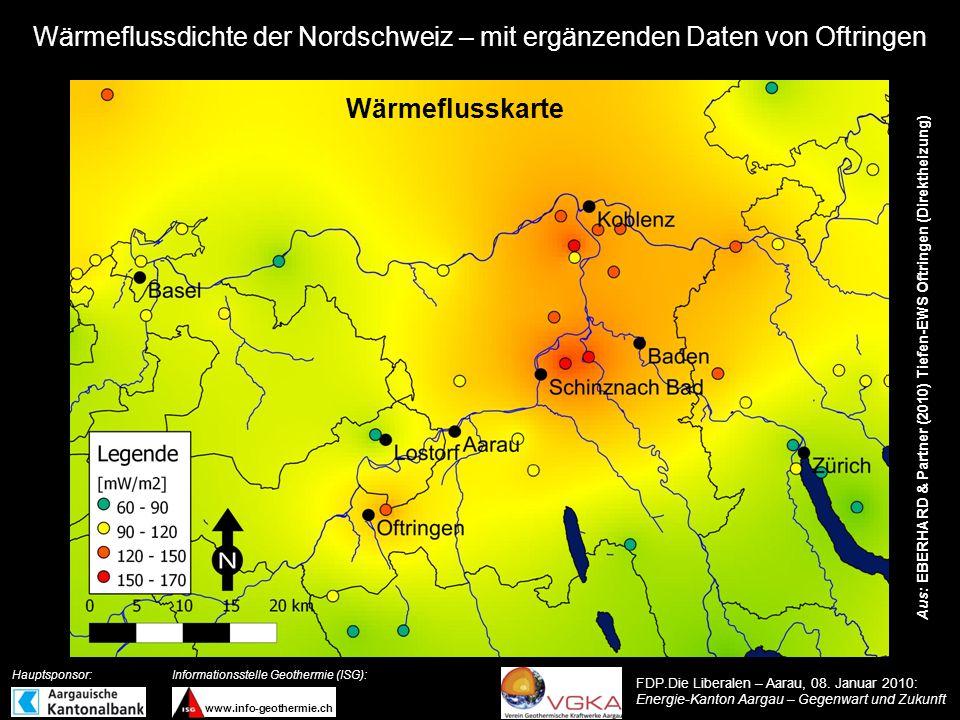 Wärmeflussdichte der Nordschweiz – mit ergänzenden Daten von Oftringen