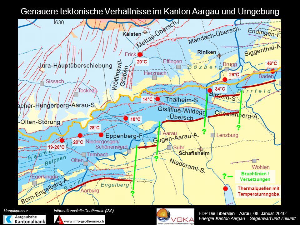Genauere tektonische Verhältnisse im Kanton Aargau und Umgebung