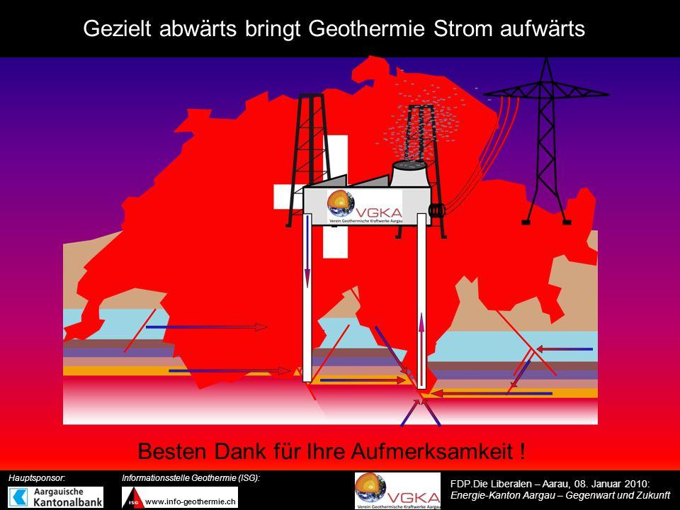 Gezielt abwärts bringt Geothermie Strom aufwärts