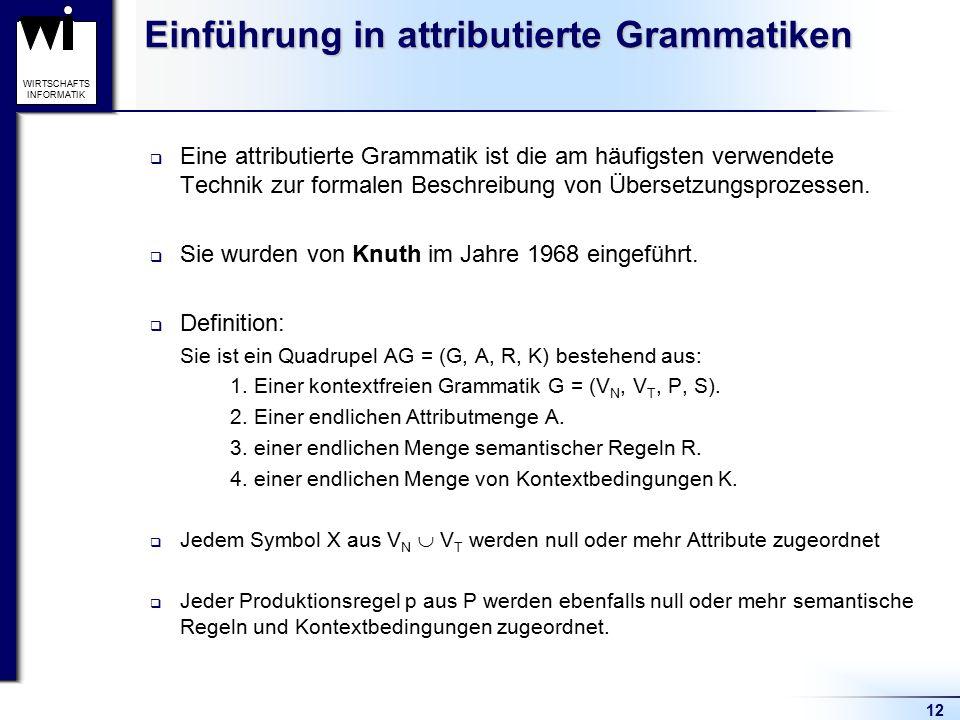 Einführung in attributierte Grammatiken